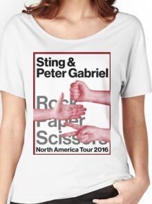 rock paper scissors tour 2016 didit Women's Relaxed Fit T-Shirt