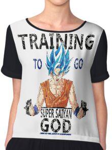 Training to go super saiyan god (vintage) Chiffon Top