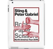 rock paper scissors tour 2016 didit iPad Case/Skin