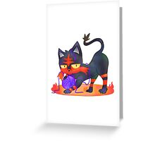 Litten - PKMN Sun & Moon  Greeting Card