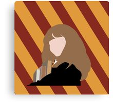 Hermione with Gryffindor colors Canvas Print