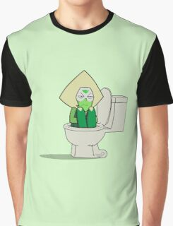 Steven Universe - Peridot in the Toilet Graphic T-Shirt