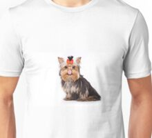Funny shaggy dog puppy Yorkshire Terrier Unisex T-Shirt