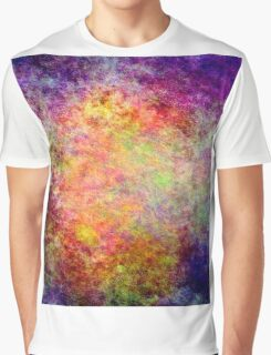 Modern Colorful Cool New Grunge Distressed Texture Graphic T-Shirt