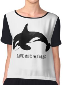 Save Our Whales Chiffon Top