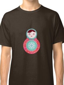 Pink and green matryoshka doll Classic T-Shirt