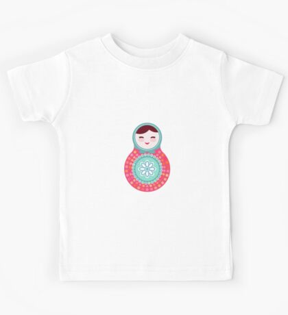 Pink and green matryoshka doll Kids Tee