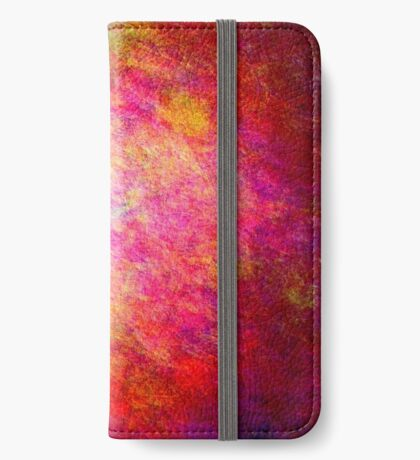 Modern Colorful Cool New Vivid Distressed Texture Abstract iPhone Wallet/Case/Skin