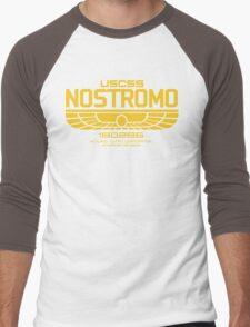 USCSS Nostromo Logo Alien Movie T-shirt Men's Baseball ¾ T-Shirt