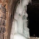Ice Temptress in a Railroad Tunnel by Sue Smith