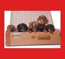 Charming cute dachshund puppy dog One Piece - Short Sleeve