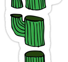 Chopped Cactus Sticker