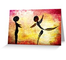 I Need YOUR Hug!!! Fingers Painting Greeting Card