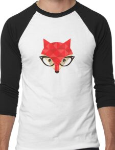Hipster fox Men's Baseball ¾ T-Shirt