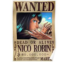 Nico Robin Wanted Poster Poster