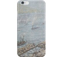 Frederick Usher De Voll  EAST RIVER, NEW YORK, WINTER (FROM BROOKLYN BRIDGE) iPhone Case/Skin