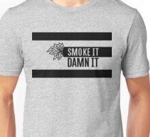 smoking illustration of cannabis and marijuana joint Unisex T-Shirt