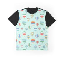 Hot Air Ballons Pattern Graphic T-Shirt