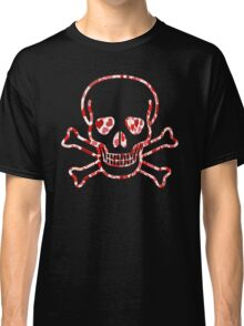 Skull with Hearts - Cool Skull Design Classic T-Shirt