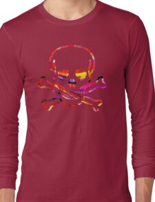 Cool Skull with Colors Palette Long Sleeve T-Shirt
