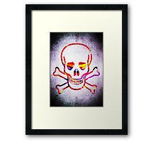 Cool Skull with Colors Palette Framed Print