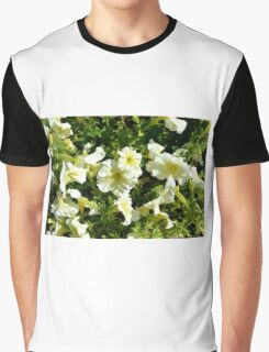 Beautiful yellow sunny flowers in the garden. Graphic T-Shirt
