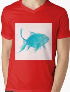 Turquoise fish Mens V-Neck T-Shirt