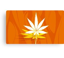 Marijuana and Cannabis Leaf Illustration Canvas Print