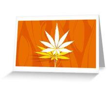Marijuana and Cannabis Leaf Illustration Greeting Card