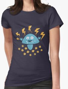 Funny Heavy Metal Mushroom Womens Fitted T-Shirt