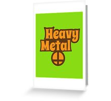 Heavy Metal hippie style Greeting Card