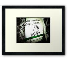 And Chocolate Chip Cookies Framed Print