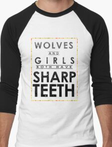 Wolves and Girls Men's Baseball ¾ T-Shirt
