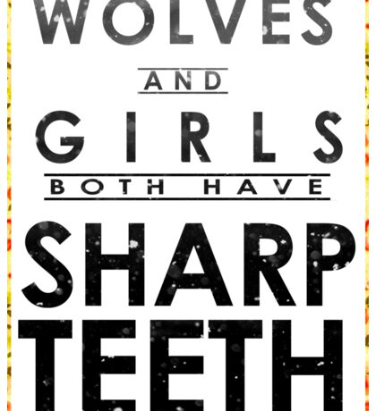 Wolves and Girls Sticker