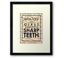 Wolves and Girls Framed Print