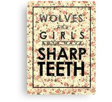 Wolves and Girls Canvas Print