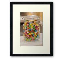 sweet candy in the jar Framed Print