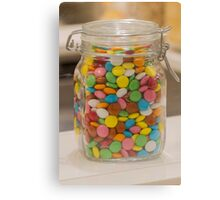sweet candy in the jar Canvas Print