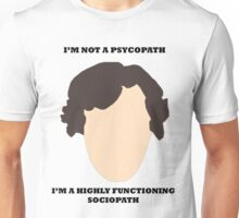 Sherlock - I am not a psycopath Unisex T-Shirt