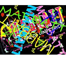 Mabbatt crazy graffiti mashup Photographic Print