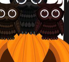 Jack O lantern & Owls Sticker