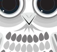 White Owl - Grey Sticker