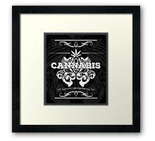 Cannabis Art Deco Retro Design Framed Print