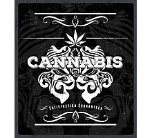 Cannabis Art Deco Retro Design Photographic Print
