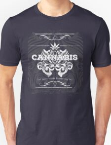 Cannabis Art Deco Retro Design Unisex T-Shirt