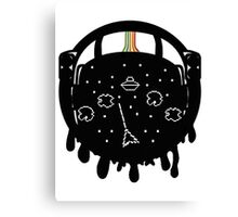 Retro Asteroid Helmet Canvas Print