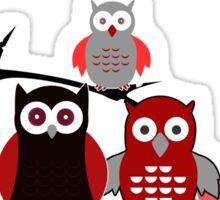 Red Owls Sticker