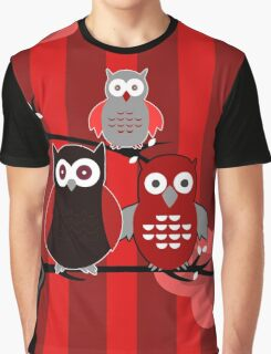 Red Owls Graphic T-Shirt