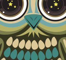 Star Eye Owl - Green 2 Sticker