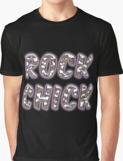 Rock Chick Chrome With Purple Glow Graphic T-Shirt